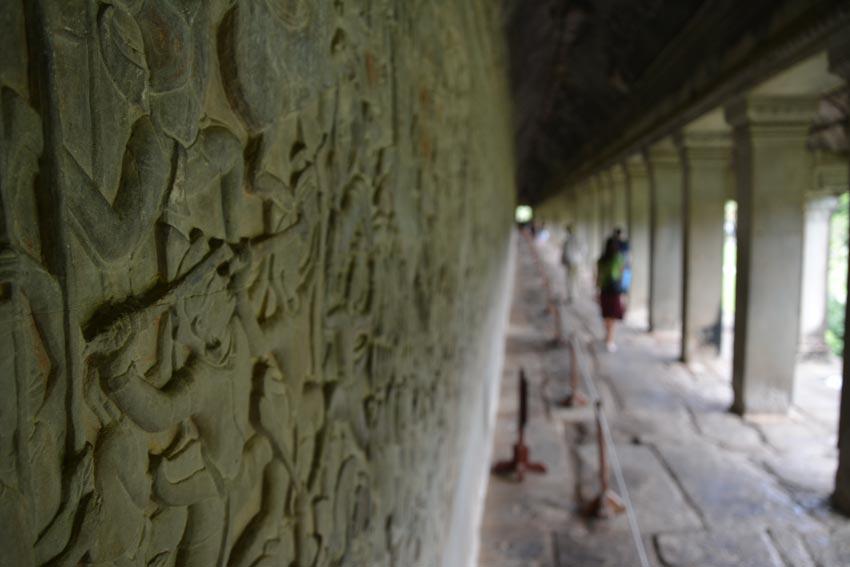 The wall carvings of Angkor Wat