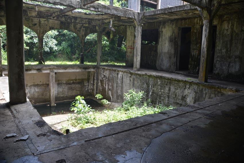 Ruins of an old swimming pool in the U.S. Barracks on Corregidor