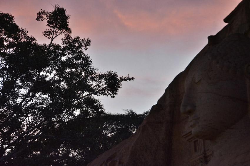 A Buddha statue in the city of Polonnaruwa.