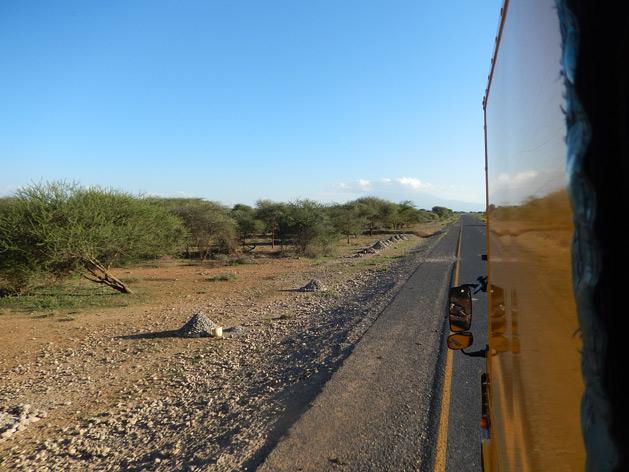 Cruising along rural parts of Tanzania.