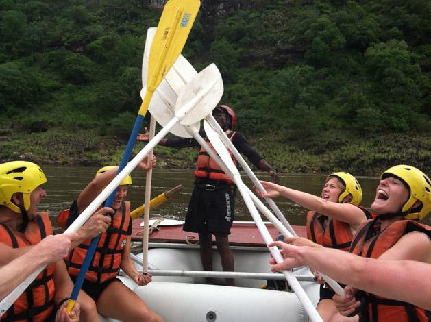 rafting-high-five