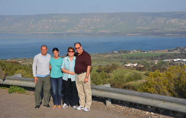 Our first view of the Sea of Galilee.