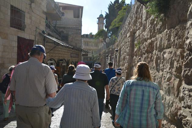 Walking the Via Dolorosa.